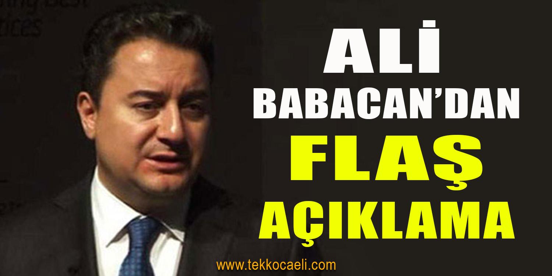 Ali Babacan İlk Yapacağı İşi Açıkladı