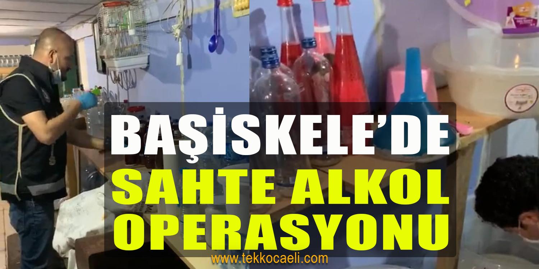 Başiskele'de Sahte Alkol Operasyonu