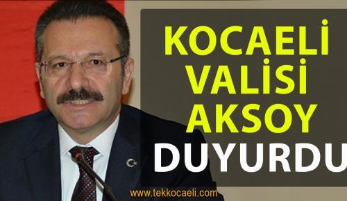 Kocaeli Valisi Hüseyin Aksoy'dan Açıklama