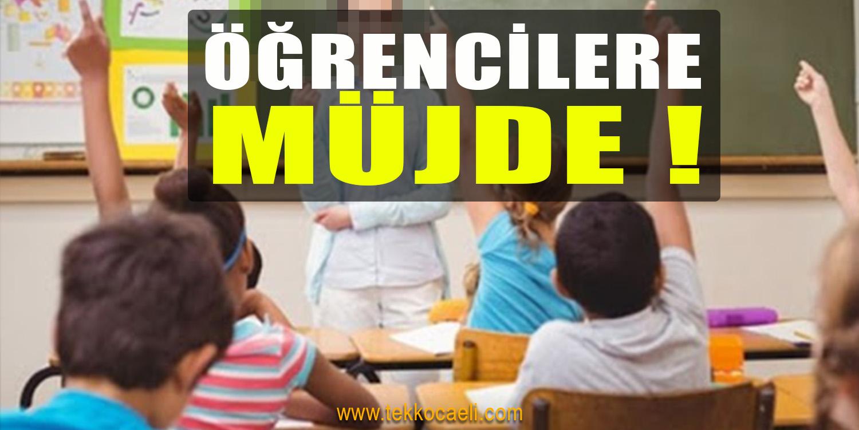 Milli Eğitim Bakanı'ndan Öğrencilere Müjde!