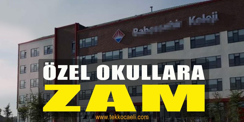 Özel Okullara Zam