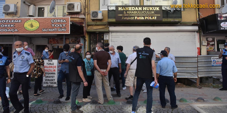 İzmit Belediyesi, Tehlike Yaratan Binayı Tahliye Etti