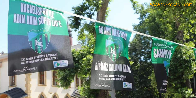 Başkan Hürriyet'ten Kocaelispor İçin Özel Bayraklar