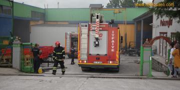 Fabrikanın Boyahanesinde Yangın