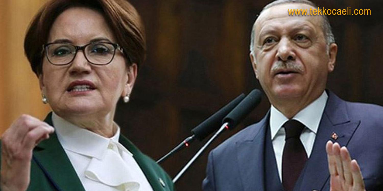 Akşener'den Cumhurbaşkanı Erdoğan'a Tepki