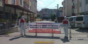 Körfez'de Sokak Karantinaya Alındı