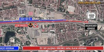 D-100 İstanbul İstikameti Trafiğe Kapatılacak