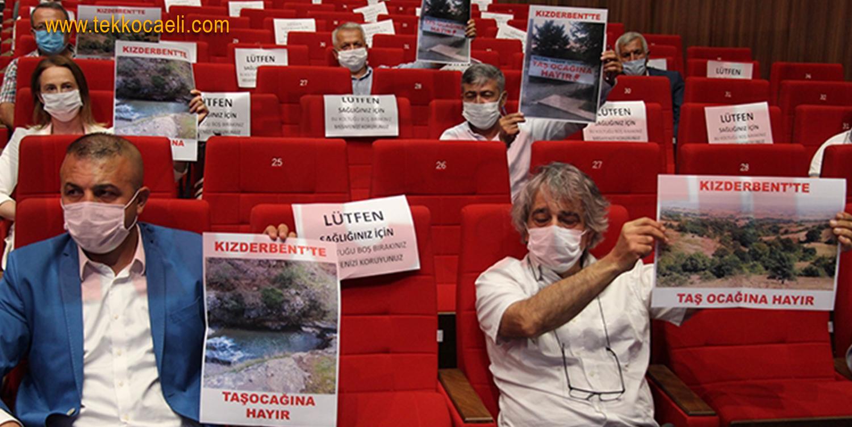 CHP'liler Büyükşehir Meclisi'nde Taşocağı'na Hayır Dedi