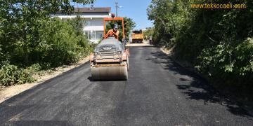 Karadenizliler Mahallesi'nde Yol 150 Ton Asfaltla Yenilendi