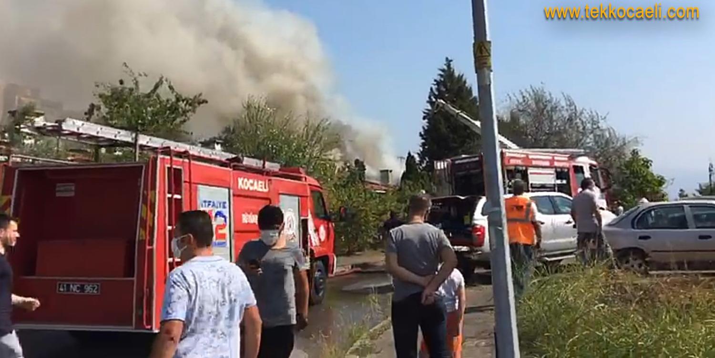 İzmit Malta'da Korkutan Yangın