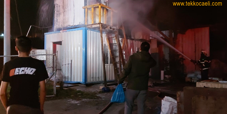 İşçilerin Kaldığı Konteyner Yapıda Yangın