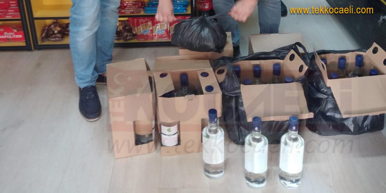 Sahte İçki Operasyonu; Büfeye Baskın Yapıldı