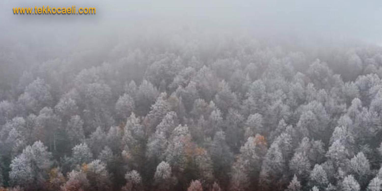 Kartepe'ye Kar Yağdı; Muhteşem Manzara