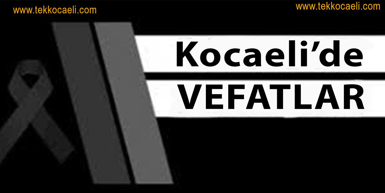 Kocaeli'de Vefatlar