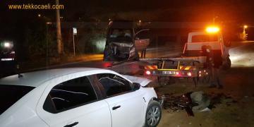 Başiskele'de Feci Kaza; Yaralılar Var