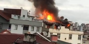 İş Hanının Çatısında Yangın