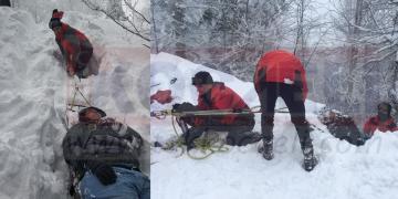 Kayak Merkezinde Pistten Çıktı, Uçuruma Yuvarlandı