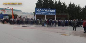 Hyundai Fabrikasında Eylem