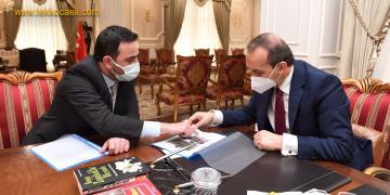 Başkan Özlü, Projelerini Vali Yavuz'a Anlattı