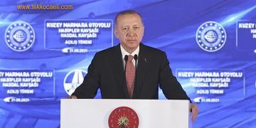 Kuzey Marmara Otoyolunun Açılışında Konuştu
