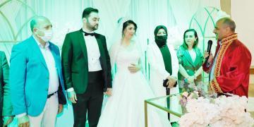 Körfez Belediyesi'nin İki Çalışanı Ayşe Nur ve Doğan Evlendi