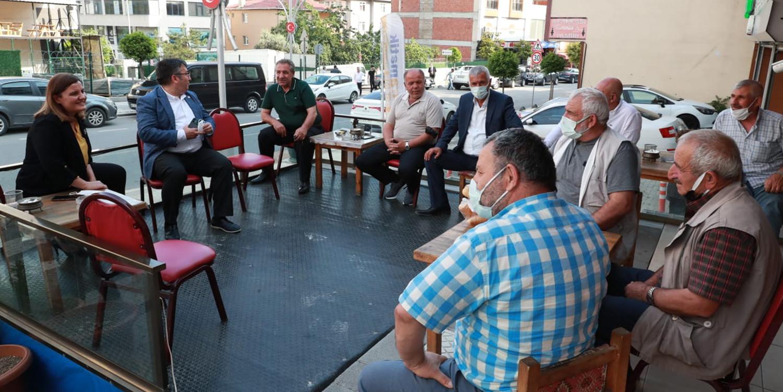 İzmit Belediye Başkanı Hürriyet Çayırova'da