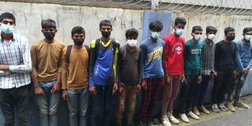 Yolcu Otobüsünde 11 Kaçak Göçmen Yakalandı