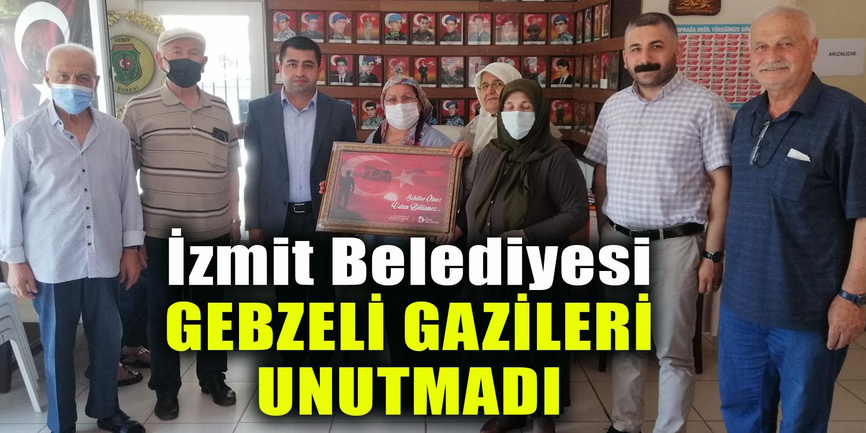 İzmit Belediyesi Gebzeli Gazileri de Unutmadı