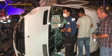 İşçileri Taşıyan Minibüs Devrildi; Yaralılar Var