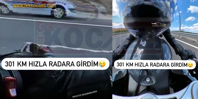 Motosiklet Sürücüsü 301 KM Hızla Radara Takıldı