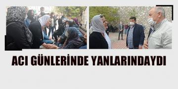 Başkan Hürriyet, Çınar ve Murat Ailelerinin Acısını Paylaştı